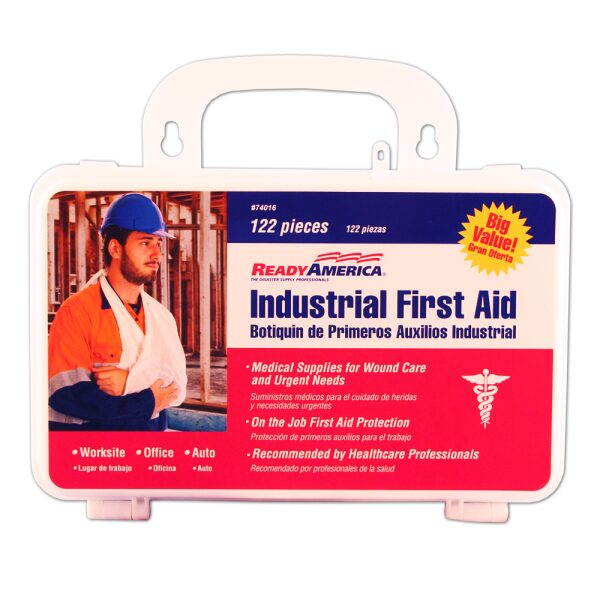Industrial First Aid Kit, 122 piece