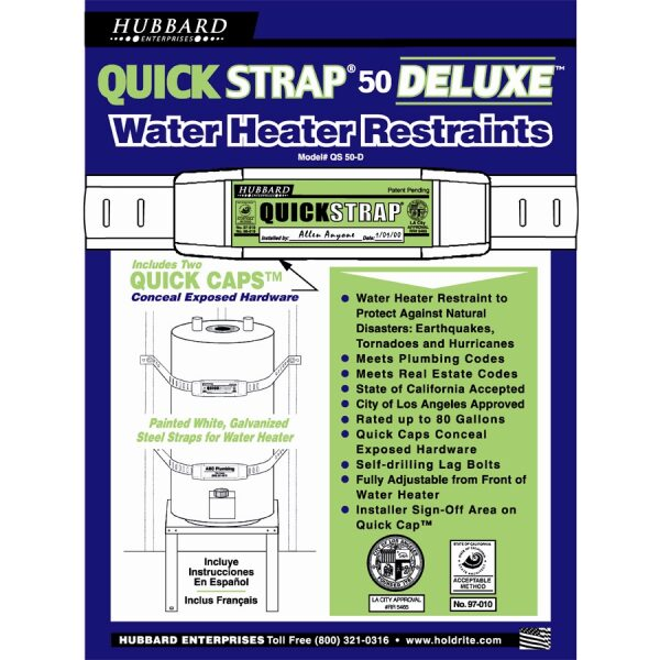 Water Heater Strap Deluxe - 80 Gallon