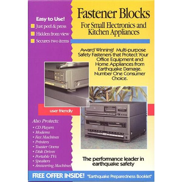 QuakeHOLD! Fastener Blocks (Set of 2)
