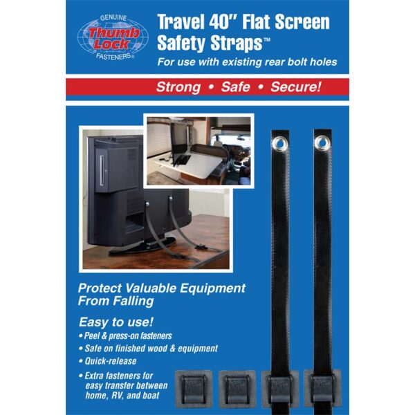 "Travel 40"" Flat Screen Safety Straps"